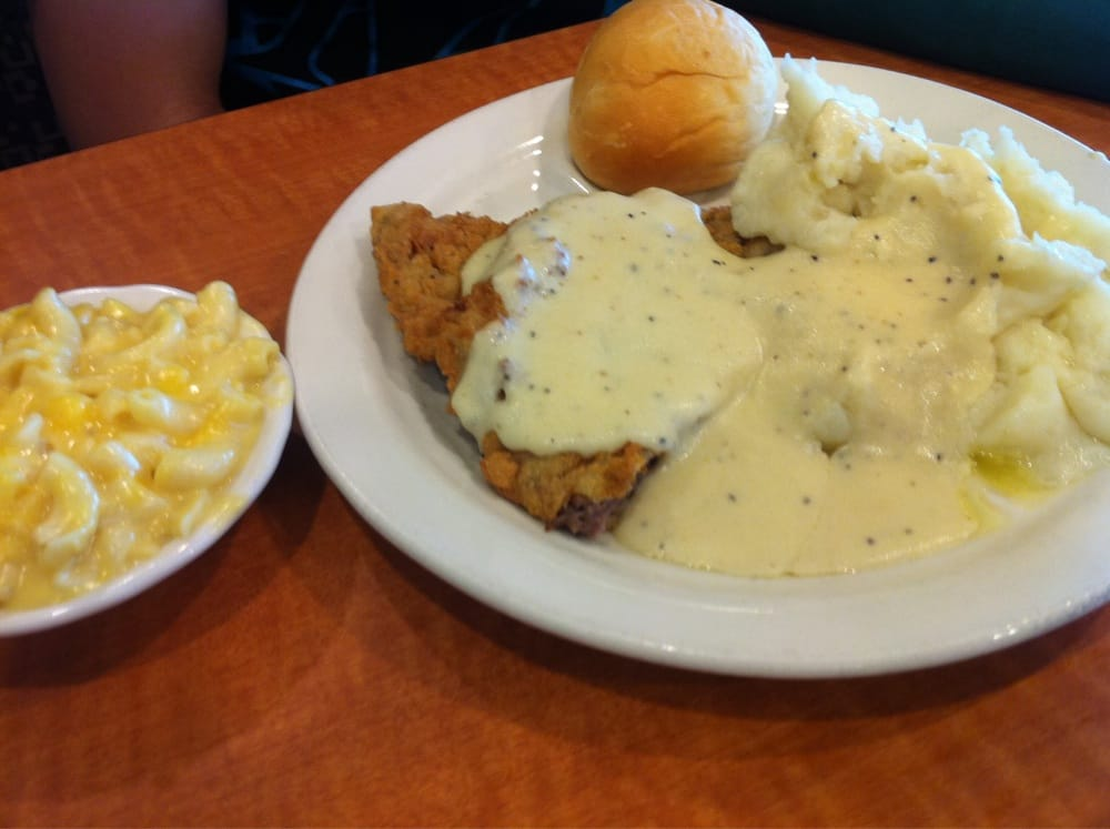 Chicken fried steak with mac n cheese and mashed potato yelp for Lubys fried fish