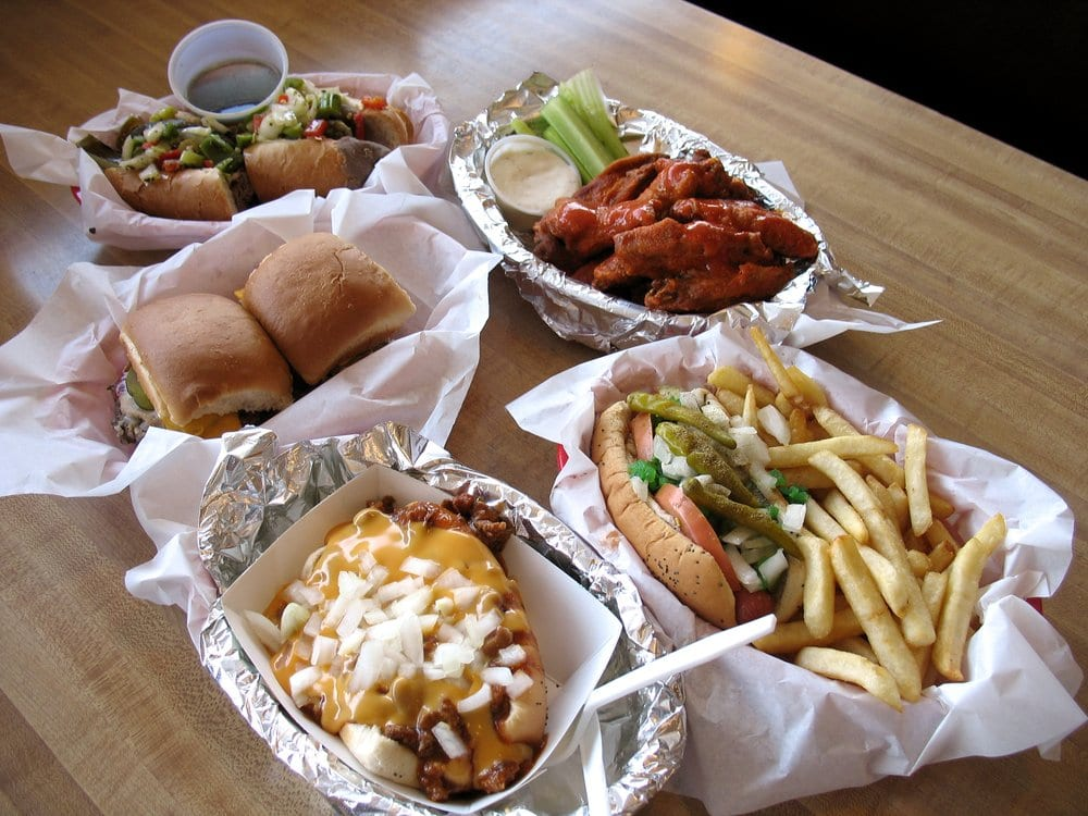 ... Hot Dog, Buffalo Wings, Cheese Sliders, and a Chili Cheese Dog. | Yelp