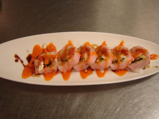 ... cheese, jalapeno stuffed spicy tuna tempura with sweet chili sauce