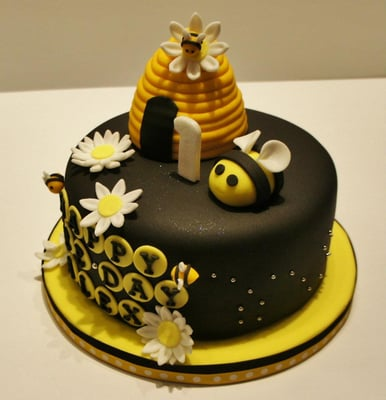 Send Birthday Cake on Bumble Bee Fondant Cake   Yelp