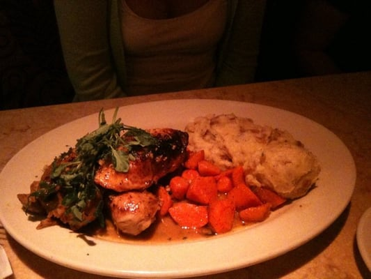 Lemon-herb roasted chicken with carrots and mash potato | Yelp