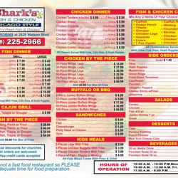 Sharks fish and chicken chicago style chicken wings for Sharks fish and chicken menu