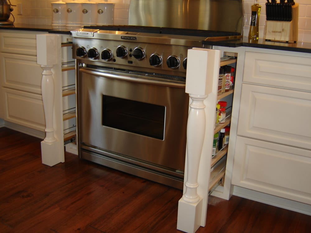 Pull out spice rack behind the leg yelp for Beaverton kitchen cabinets reviews