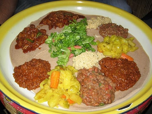 Injera and wot goodness for African cuisine near me