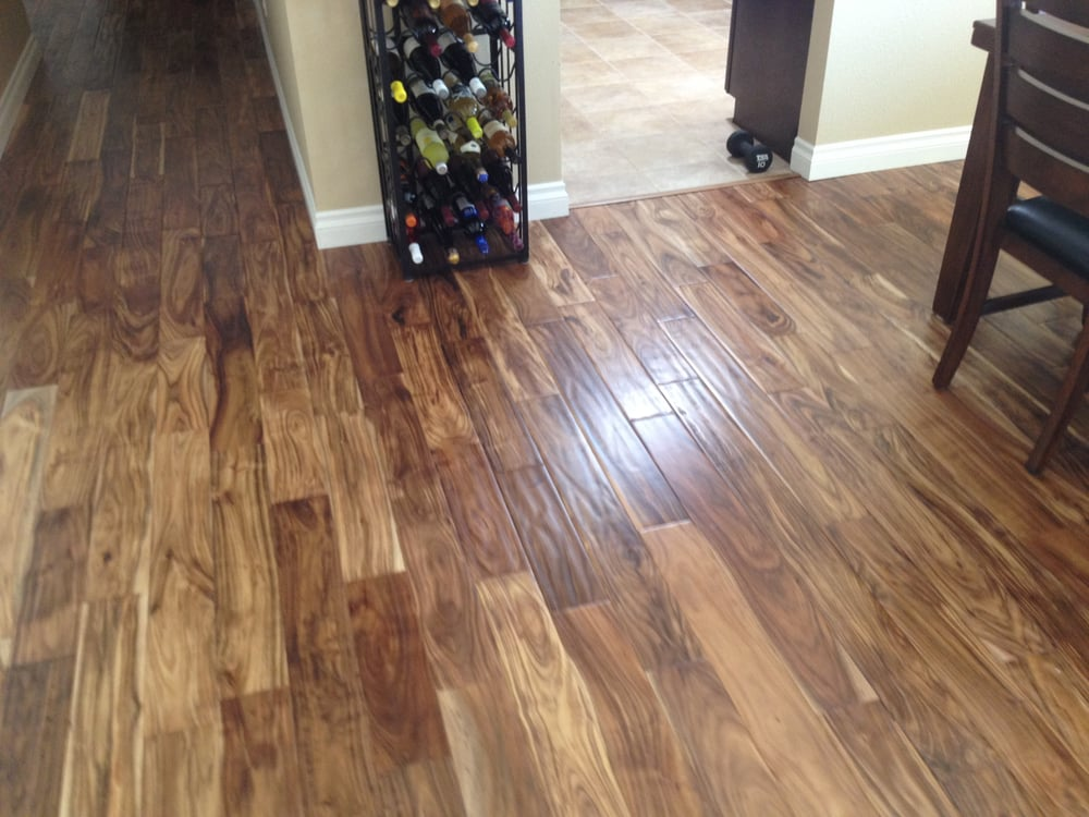 Acacia natural hand scraped hardwood flooring yelp for Natural floors