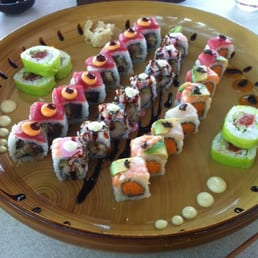 A selection of sushi samba rolls