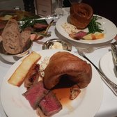 Rib of Beef on the bone for two with Yorkshire pudding, Anna potatoes, fine beans, roast shallots & fresh horseradish