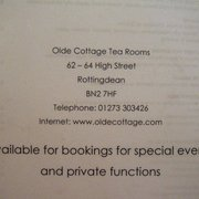 The Old Cottage Tea Rooms & Restaurant, Brighton