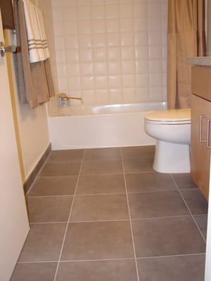 Bathroom Tile Floor on 15  Italian Porcelain Tiles  Bathroom Floor And 6 X 6  Ceramic Tiles