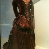 Worth Dress worn by Mrs. William Meagher of Dublin. Dress was made by Charles Frederick Worth (1825-95)