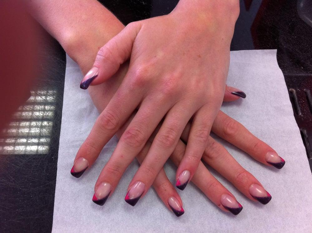 7 ongle gel mauve violet decor paillette nail art french manucure quickepil proepil yelp. Black Bedroom Furniture Sets. Home Design Ideas