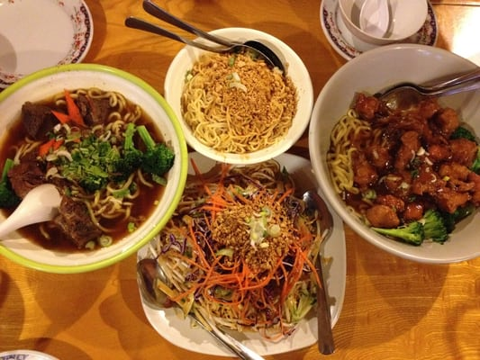 ... , spicy garlic chicken, noodle salad, five spice beef noodle soup