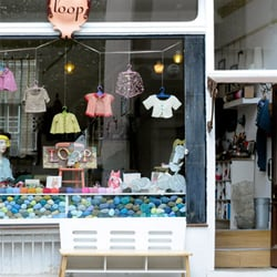 Loop shopfront on charming Camden Passage in Islington, London