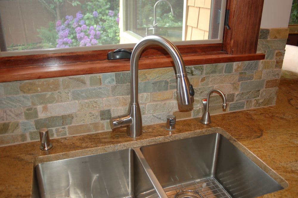 Stainless Steel Sink Countertop : Stainless steel undermount sink with granite countertop Yelp