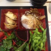 A badly taken photo of a bento box