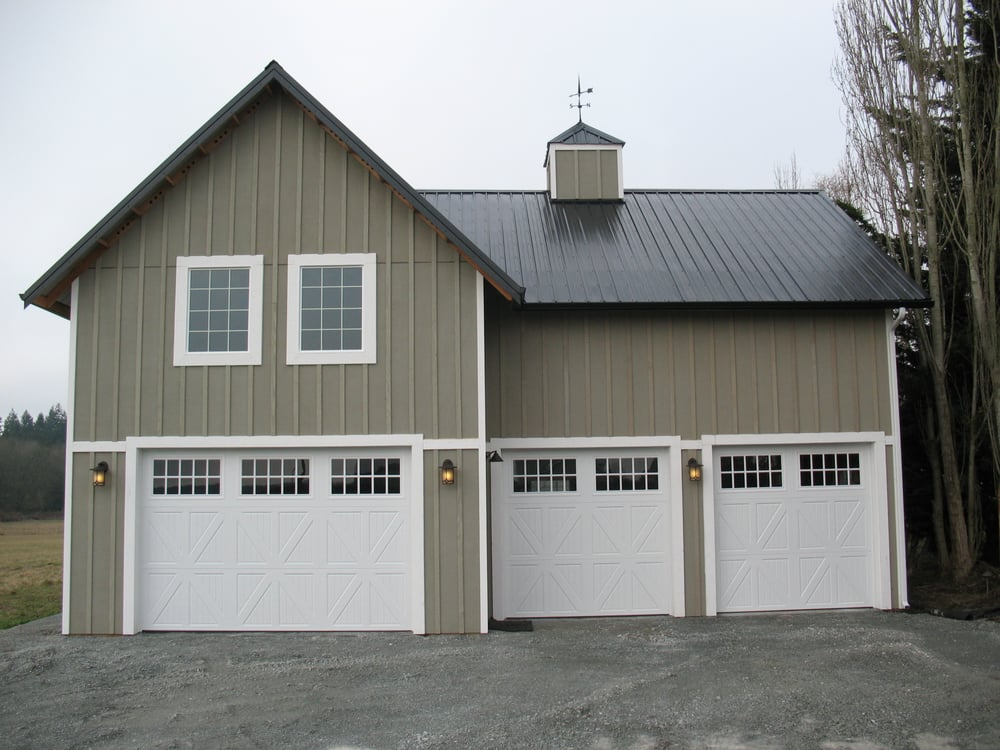 A nice post frame rv and garage storage w loft by spane for A frame garage with loft