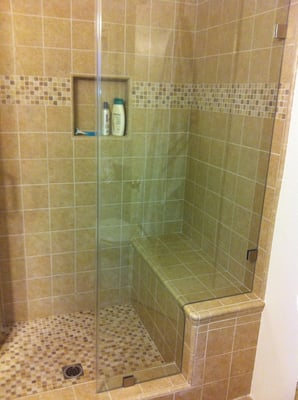 Custom Tile Shower With Bench Seat Yelp