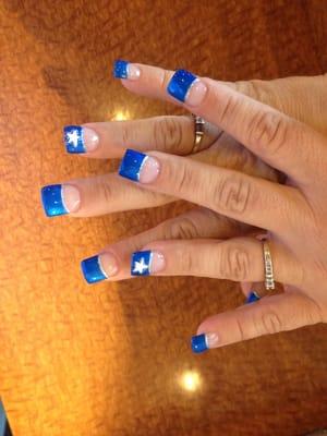 ... Dallas cowboy nail design. What's ur favorite team? Put dem on ur nail