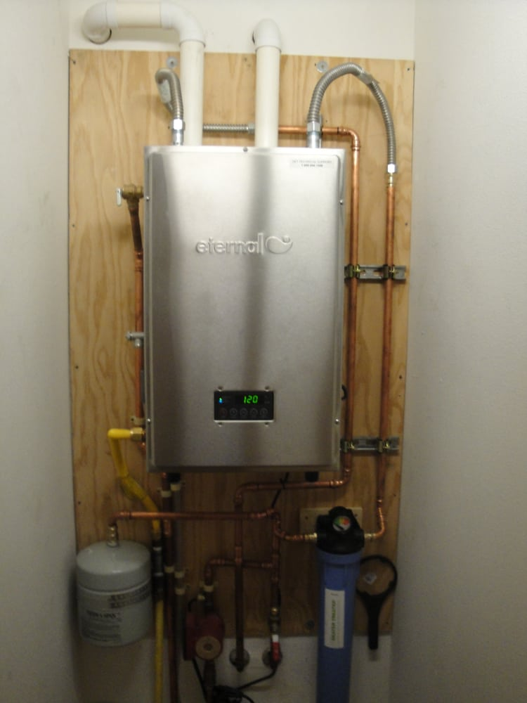 Eternal Hybrid 98 199 000btu Tankless Water Heater Yelp