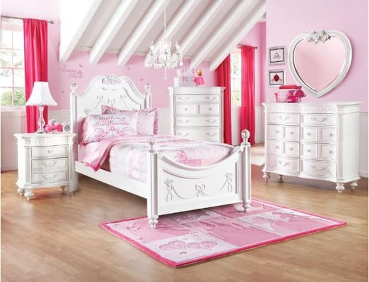 Disney Princess White Twin Poster Bed Car Interior Design