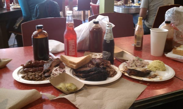 Franklin Barbecue two meat plate