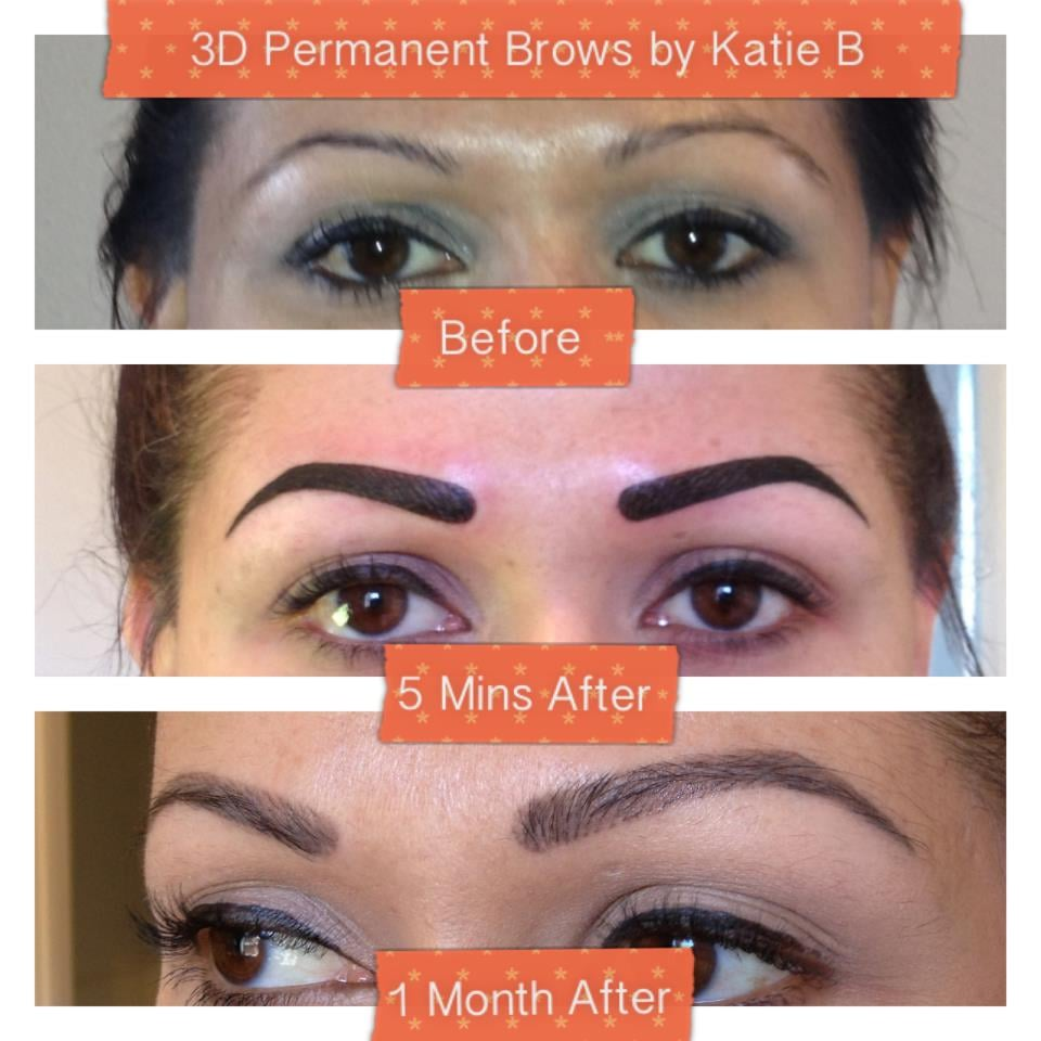 3D hair strokes permanent brows by Katie B. foreverkatieb.com | Yelp
