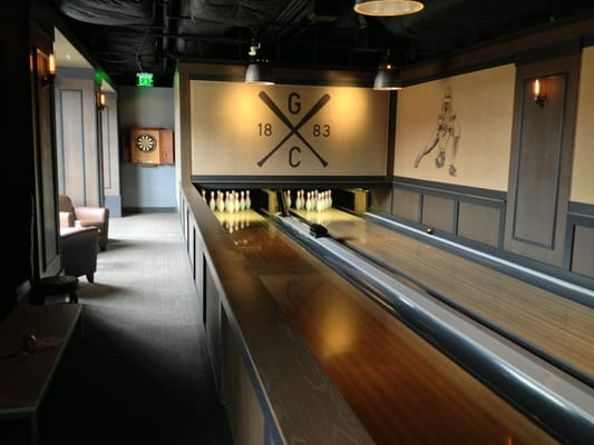 Two bowling lanes located inside The Game Room at AT&T Park. | Yelp