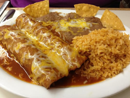 Enchiladas With Rice And Beans Cheese enchiladas wtih...