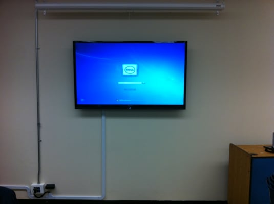 60 Quot Sharp Led Tv With Tilt Wall Mount For Use In This