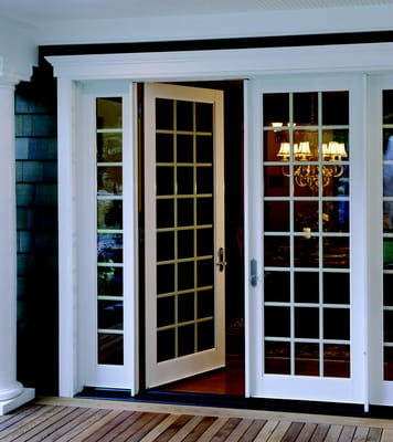 Milgard Ultra Woodclad Patio Swing French Doors Also