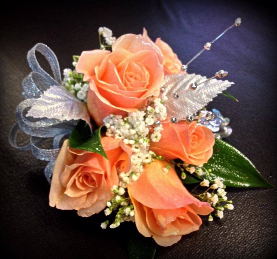 Peach Spray Rose Corsage Yelp