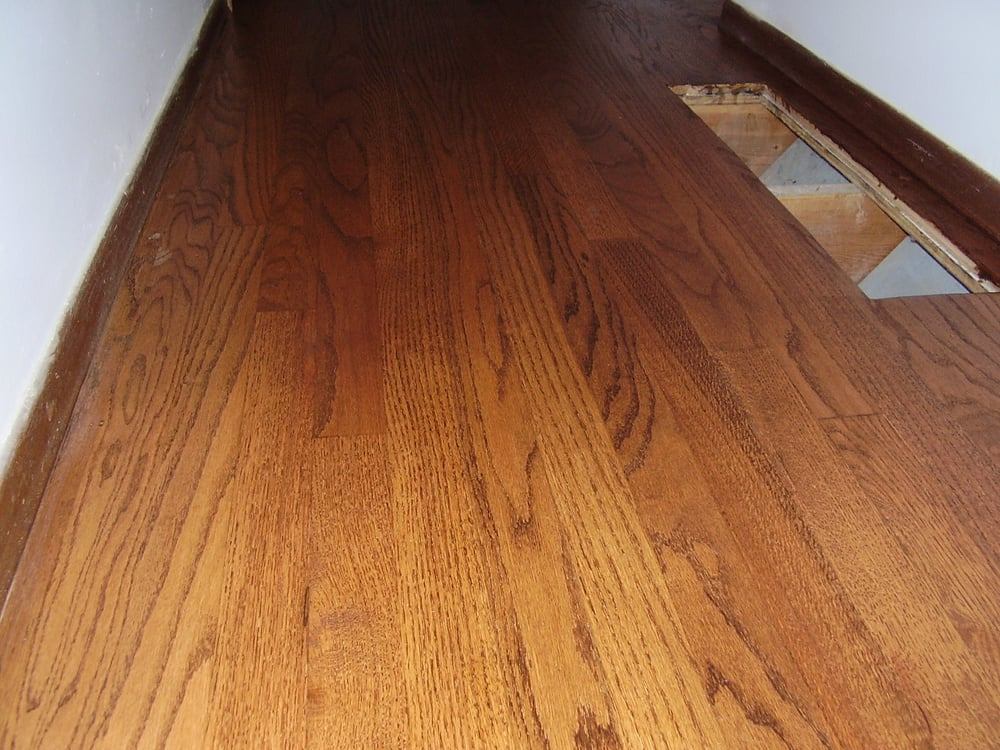 Refinished Red Oak With English Chestnut Stain A Repair Of