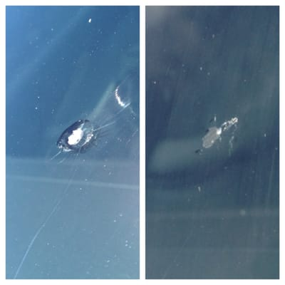 Windshield Replacement Near Me >> Before and After - Window chip repair | Yelp