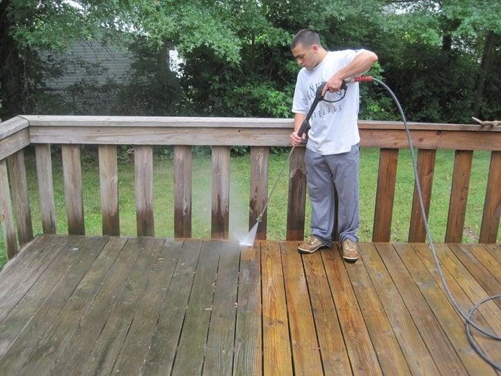 Bonomari Power Washing A Wood Deck Yelp