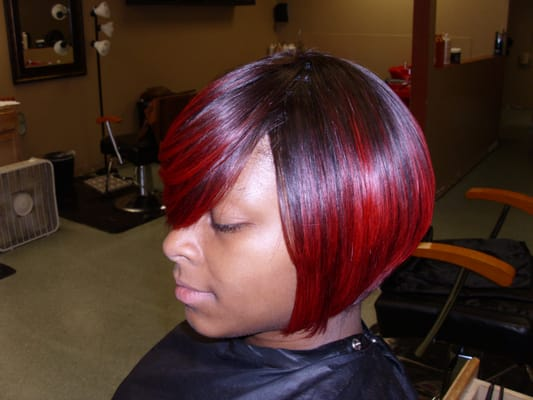 Red Quick Weave