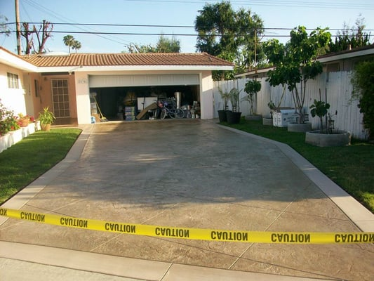 Stamped Concrete San Diego Buff Colored Driveway Yelp