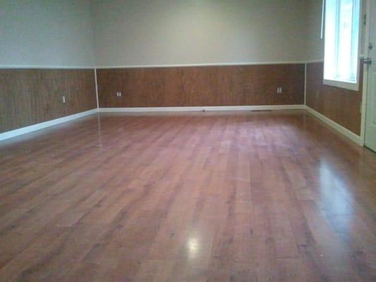 Laminate Floors Wasinscotting Floor Trim And Chair Rail