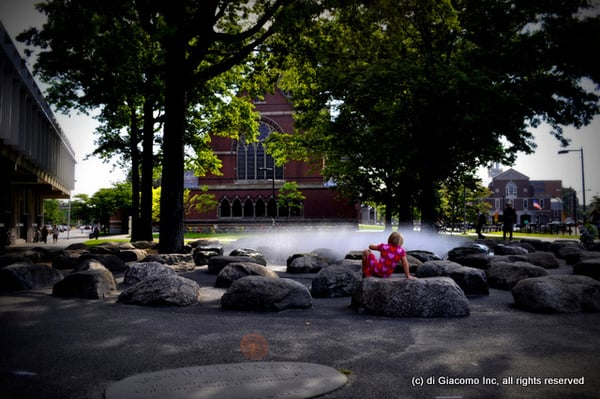 Tanner Fountain At Harvard University Designed By Peter