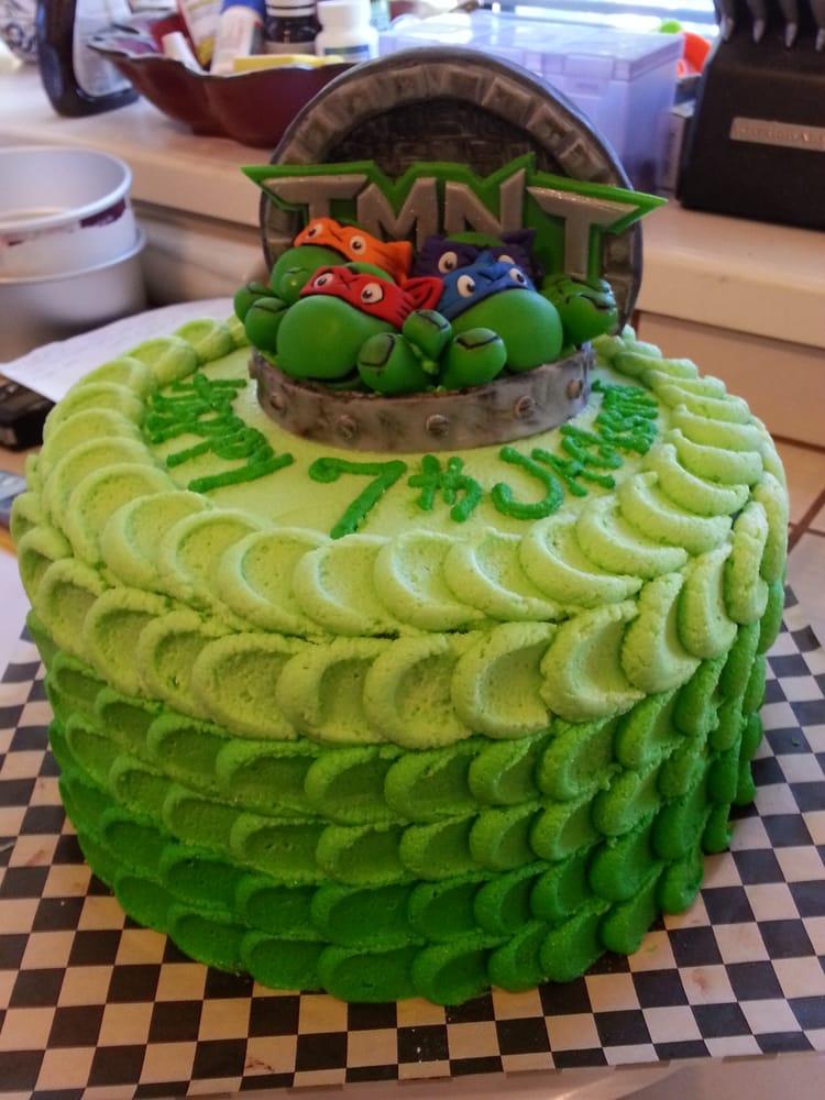 """10"""" Teenage Mutant Ninja Turtle Cake w/ fondant TMNT ..."""