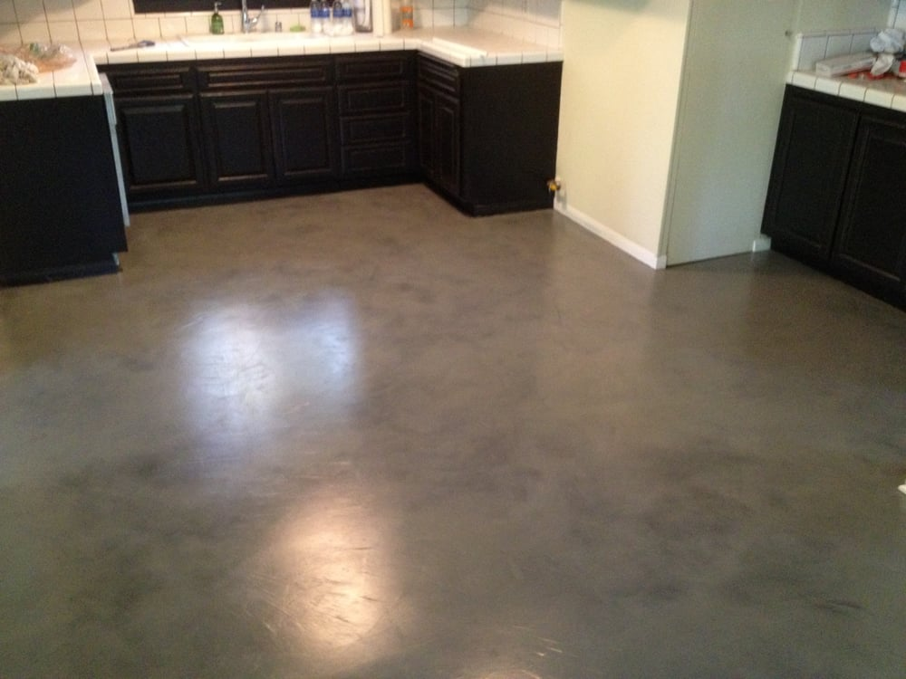 interior concrete floor overlay black with grey stain yelp. Black Bedroom Furniture Sets. Home Design Ideas