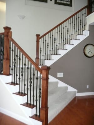 Beautiful Updated Staircase Square Newels Add So Much
