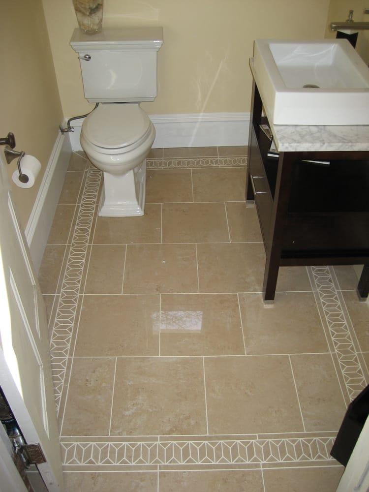 1880 S Bathroom Remodel With Custom Pattern Tile Floor To