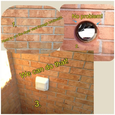 Installing A Dryer Vent Through Brick Wall Hemanager