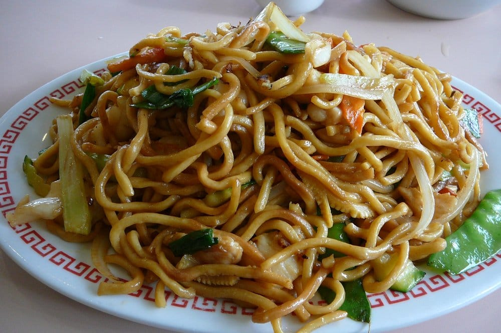 mixed seafood & vegetable chow mein | Yelp