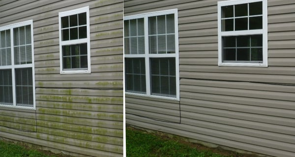Gibson S Pressure Washing Before Amp After Vinyl Siding Yelp