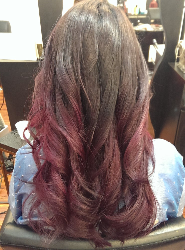 Brown And Burgundy Living Room Decor: I Got A Dark Brown To Pink Burgundy Ombre By Yuri. Love