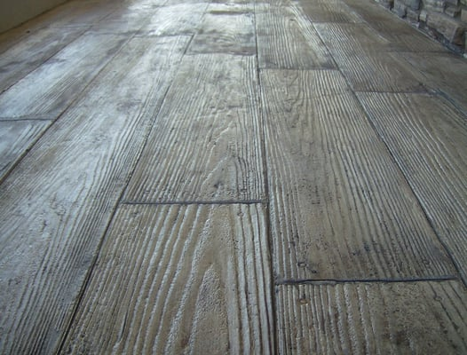 Stamped Overlay Wood Plank Yelp