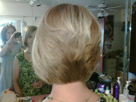 Carmen - Graduated Bob Haircut (back View)