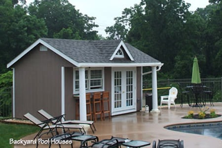 A Beautiful Backyard Poolhouse Shed From Sheds Unlimited