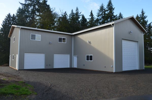 Rv Storage Garage With Attached 2 Story Shop Space And